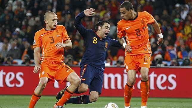 España sufre ante Holanda (1-5) la segunda mayor derrota en un Mundial
