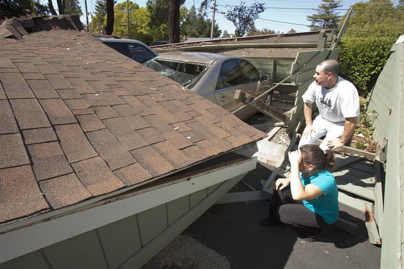 Aumentan a 172 los heridos por mayor sismo en norte de California desde 1989