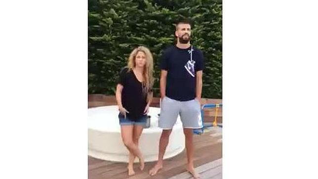 Shakira y Piqué protagonizan accidentado y divertido video del reto de la ducha helada