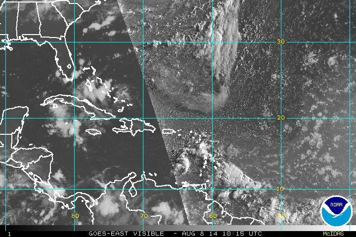 Onda tropical provocará lluvias a partir de esta noche