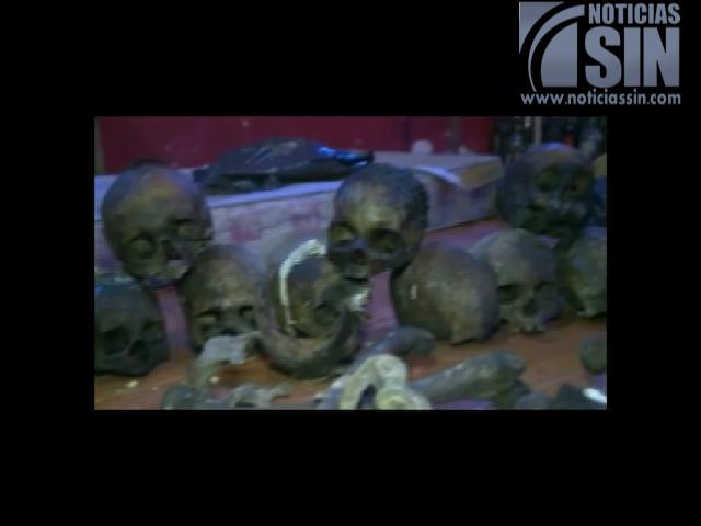 Allanan templo de ritual satánico en sótano de vivienda
