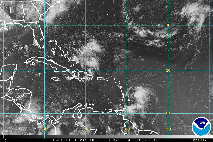 Tormenta tropical provocará aguaceros este fin de semana