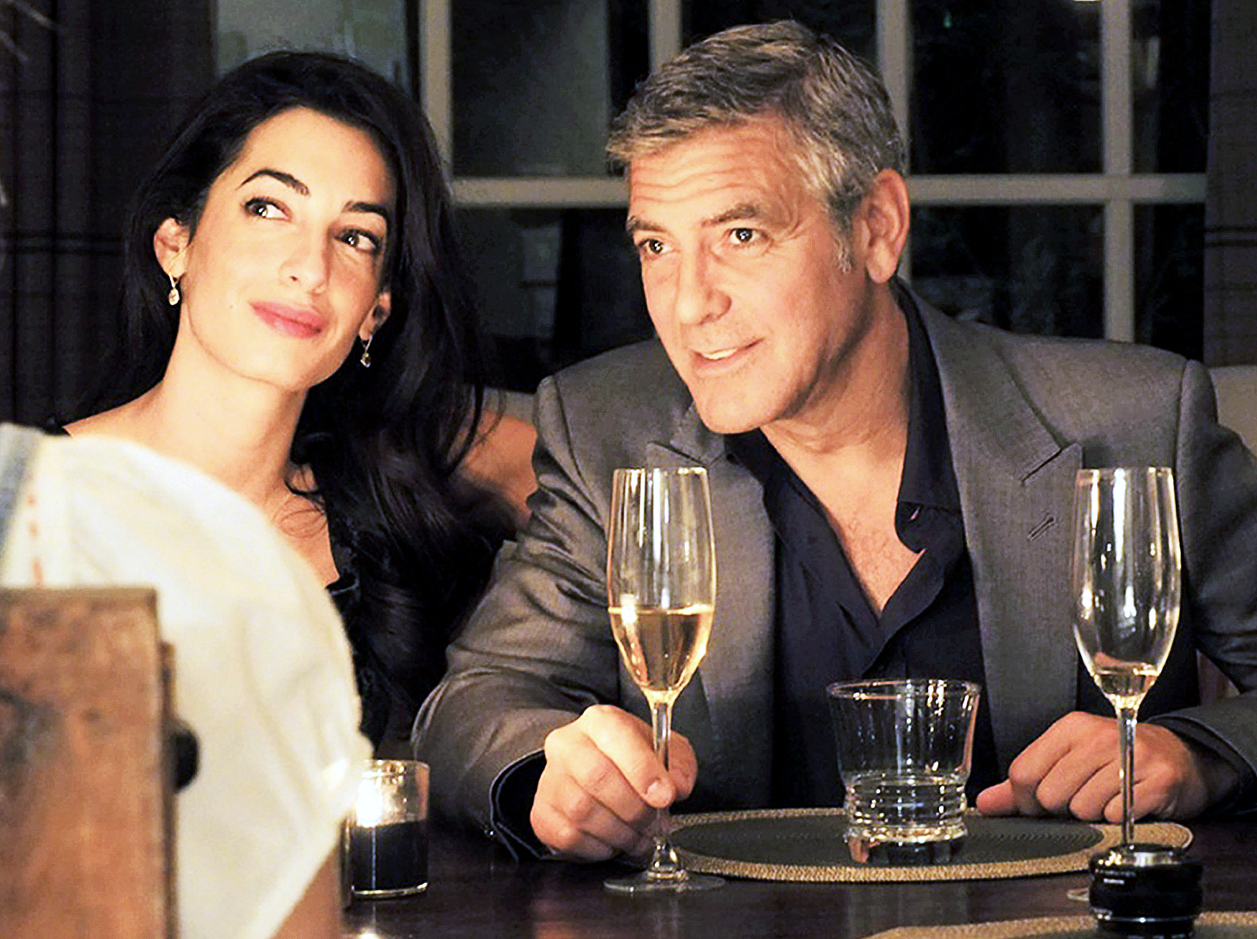 Clooney y Amal Alamuddin se dieron