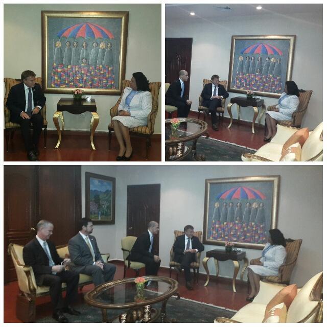 Cristina Lizardo y embajador de EEUU en RD se reúnen