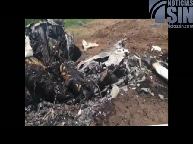 Avioneta se desploma; muere la tripulación completa