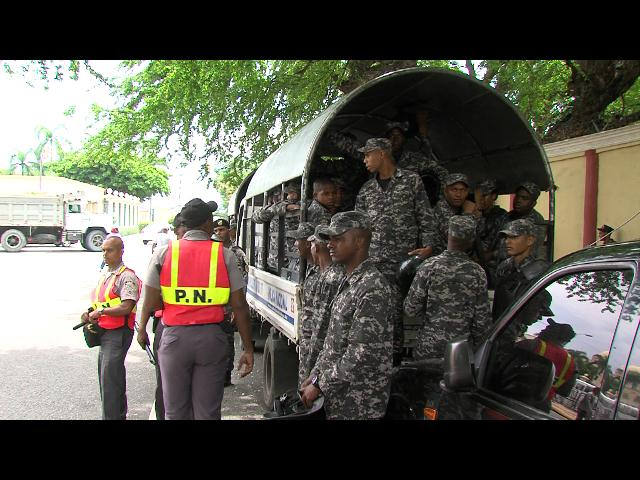 Palacio Nacional permanece custodiado ante disturbios por Loma Miranda