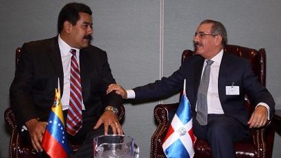 Danilo Medina y Nicolás Maduro se reunieron hoy