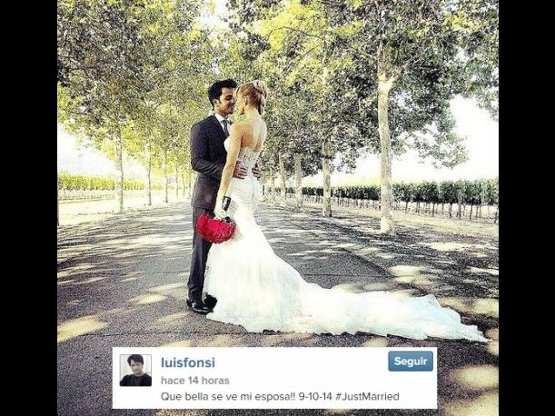 El cantante Luis Fonsi se casó con la modelo Águeda López