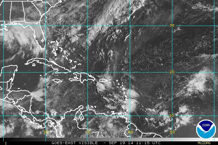 Onda tropical provocará aguaceros esta tarde, informa Meteorología