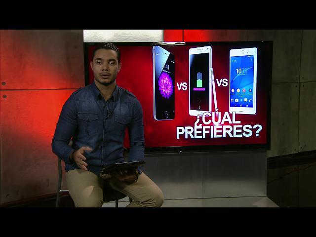 iPhone 6 vs Samsung Galaxy Note 4 vs Sony Xperia Z3 - ¿Cual prefieres?