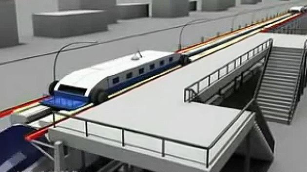 China diseña un tren sin paradas