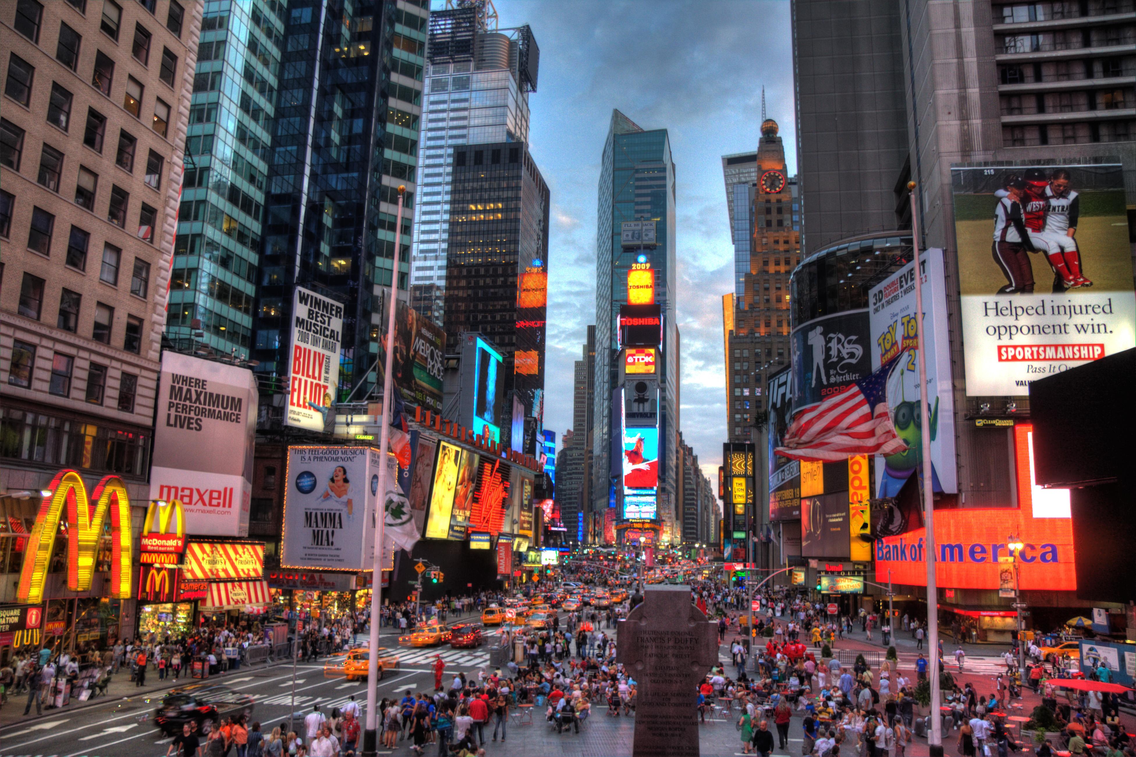 Times Square enciende mañana la mayor pantalla publicitaria de EEUU