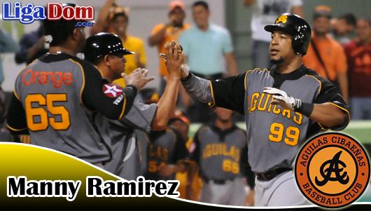Las Águilas ganan con Jonrones de Manny Ramírez y Dan Black