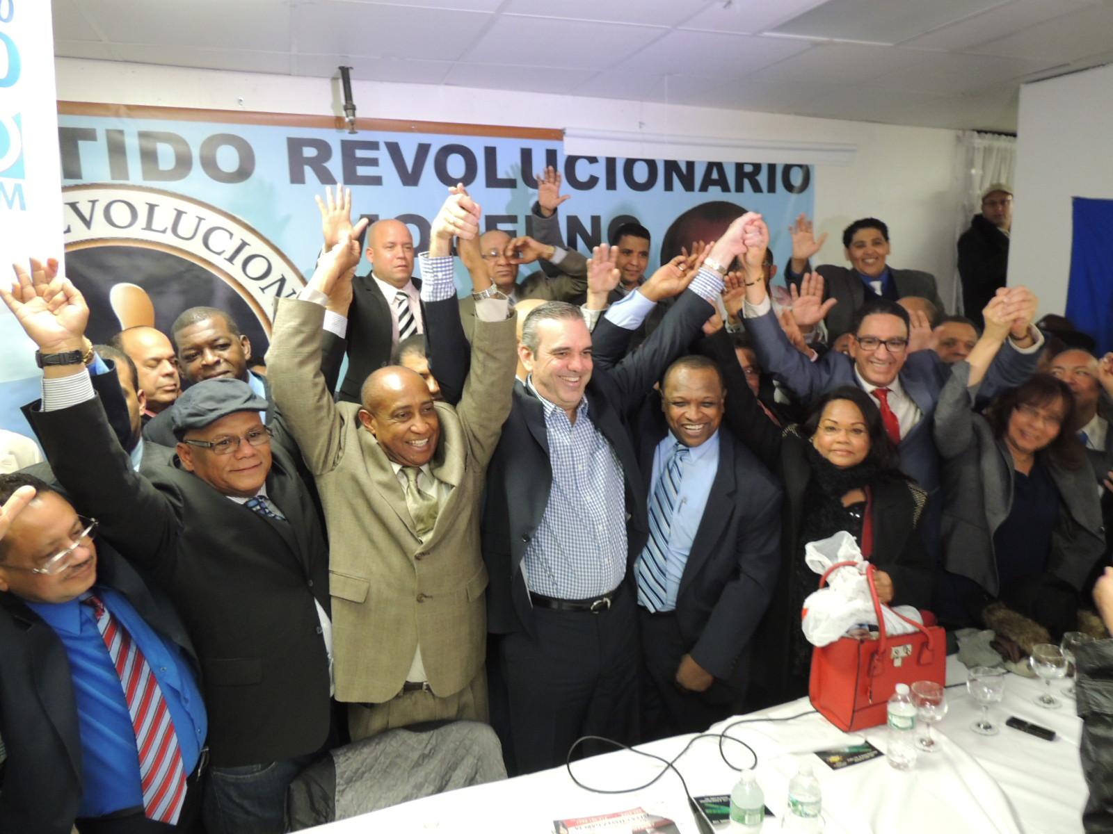 Luis Abinader recibe respaldo de líderes de diversas corrientes en NY