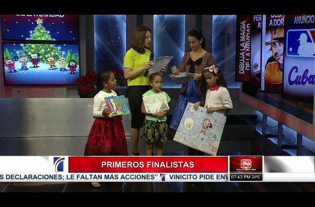 Premiación de los siete finalistas de concurso Dibuja La Magia De La Navidad