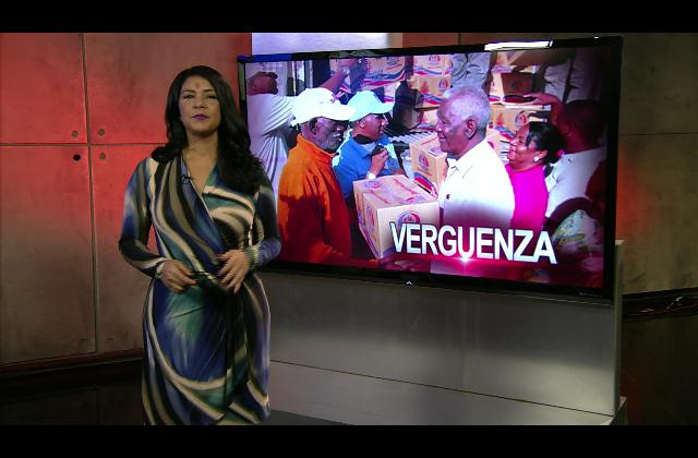 Patricia Solano: Desorden durante entrega de cajas navideñas