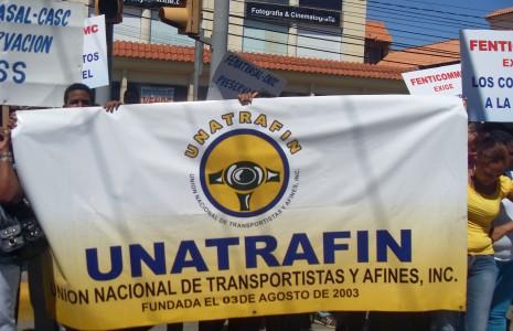 UNATRAFIN: Pide al Gobierno salde deuda social con los transportistas