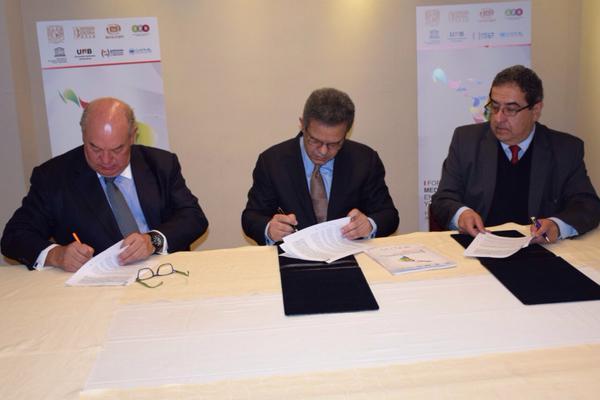 Leonel Fernández firma acuerdo académico y cultural con la UNAM