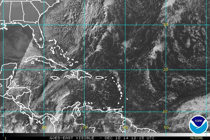 Se esperan lluvias para algunas provincias por vaguada sobre Haití