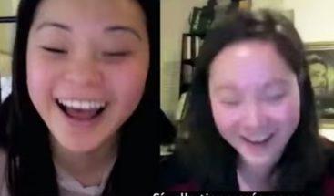 Increíble historia de gemelas que se conocieron por internet