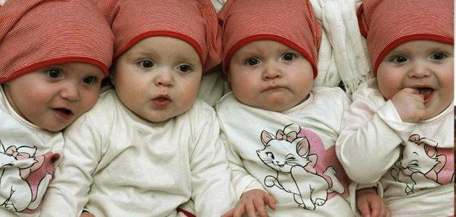 Alemana de 65 años con 13 hijos da a luz a cuatrillizos