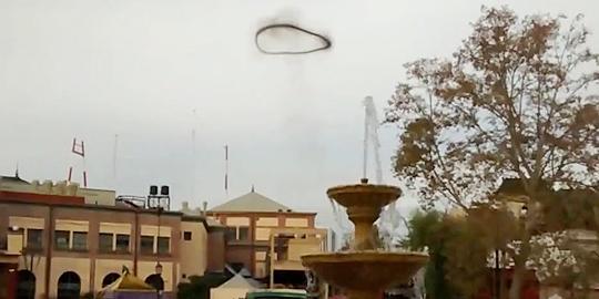 Un extraño anillo negro aparece en el cielo de Buenos Aires