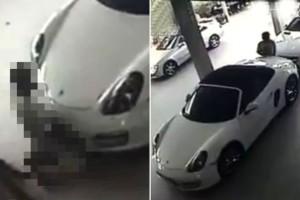 Lo capturaron en video haciéndole el amor… ¡a un Porsche!