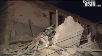 Se desploma el antiguo Hotel Francés de la Zona Colonial