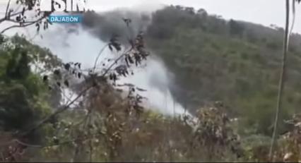 Tratan de extinguir incendio en Dajabón