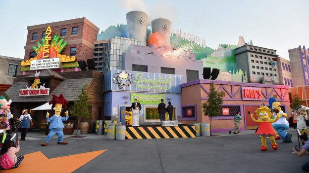Recrean la ciudad de Springfield de los Simpson a tamaño real en Los Ángeles