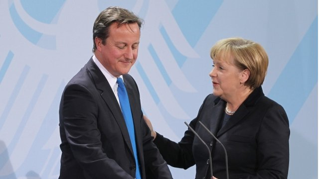 Merkel confía en que Cameron mantenga a Inglaterra en la Unión Europea
