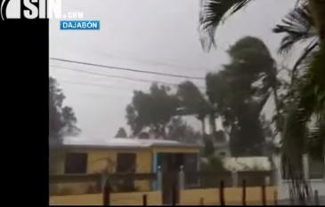 Al menos 25 familias afectadas por ventarrón en Dajabón