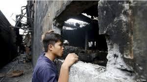 Ya son 72 las personas muertas en un incendio de una fábrica en Filipinas
