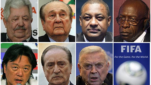 Los 14 hombres imputados en el nuevo escándalo de la FIFA