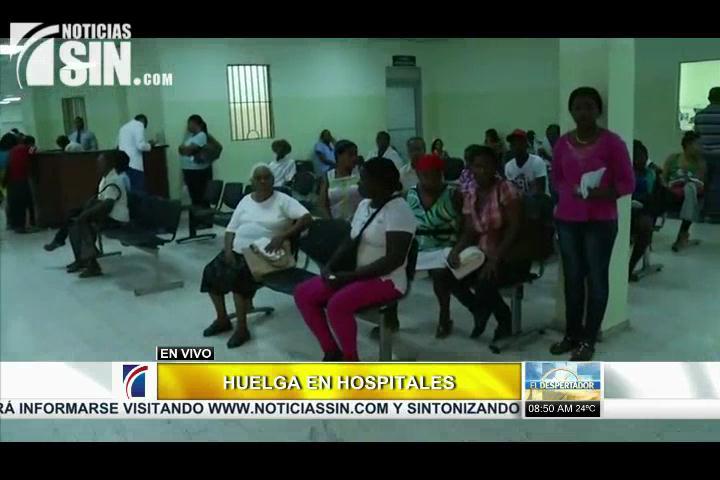Se cumple llamado a paro en Hospital Moscoso Puello