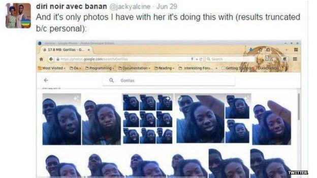 Google Photos confunde a una pareja negra con gorilas