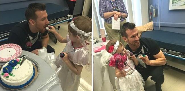 ¡Tierna historia! Niña de cuatro años, enferma de cáncer, se casa con su doctor