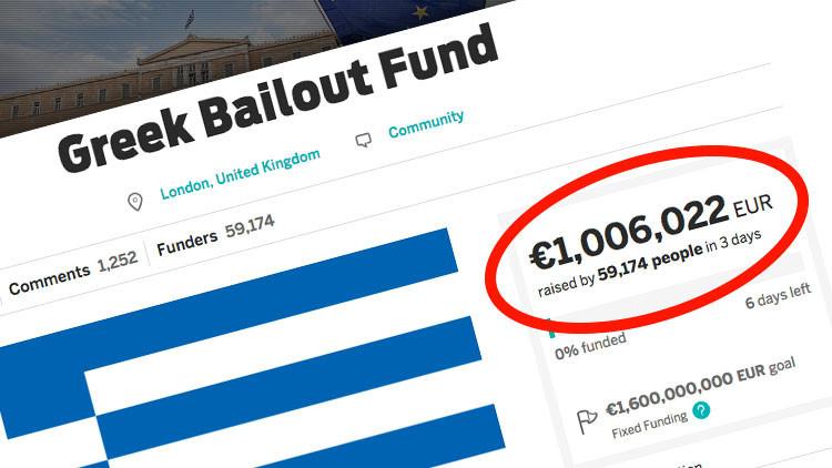 Gracias al poder del Internet usuarios donan más de un millón de euros a Grecia en solo tres días