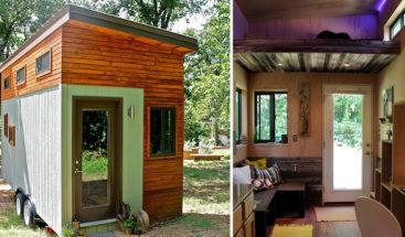 Joven construye una mini-casa para no endeudarse mientras termina la carrera