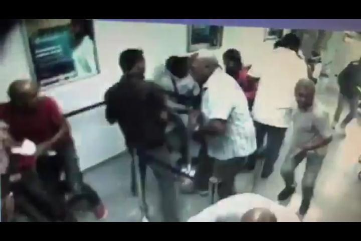 Video muestra momento en que asaltan Banco Popular de la Luperón