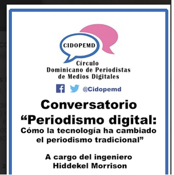 "Cidopemd realizará conversatorio ""Periodismo Digital"