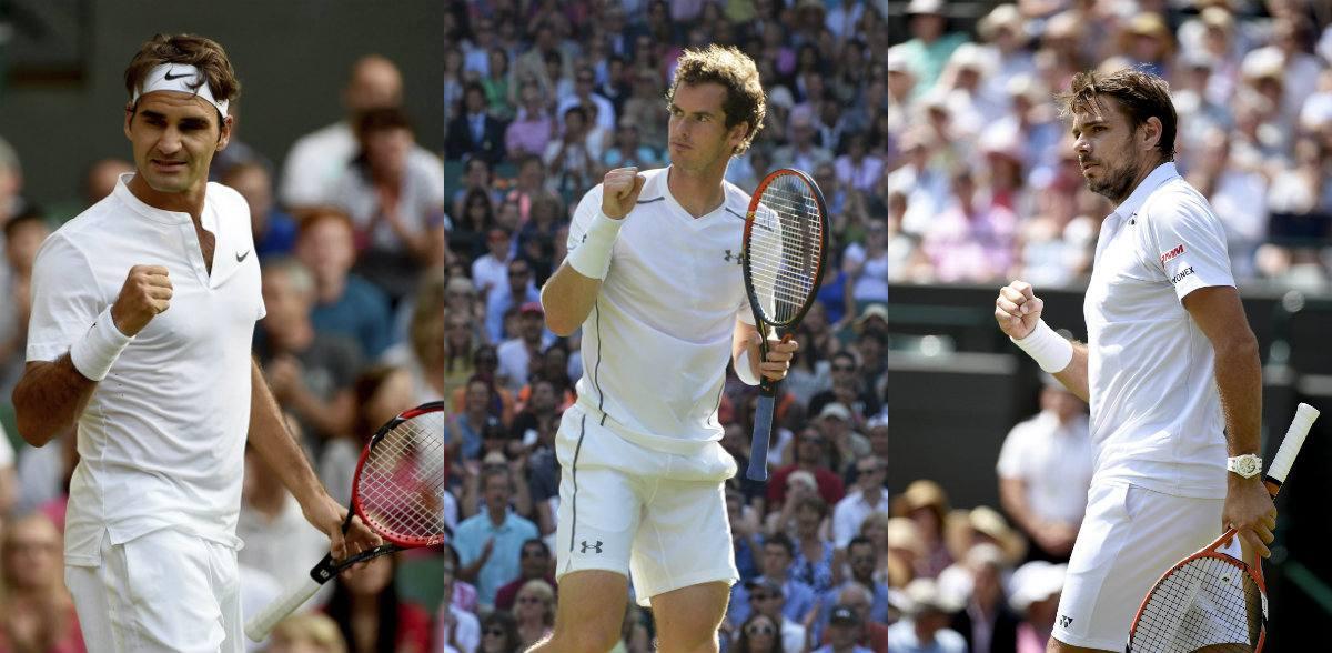 Federer, Murray y Wawrinka no fallan en octavos; se espera a Djokovic
