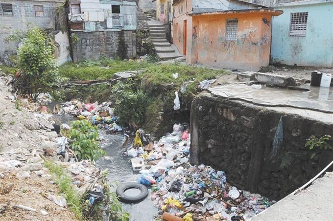 Protestan frente al Palacio en demanda de saneamiento cañada Guajimía