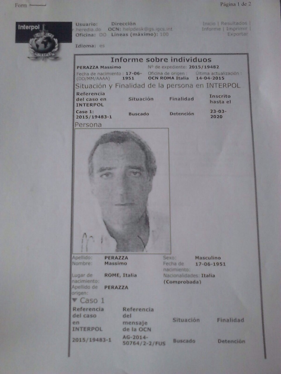 Interpol apresa dos italianos acusados de  falsificación y  fraude