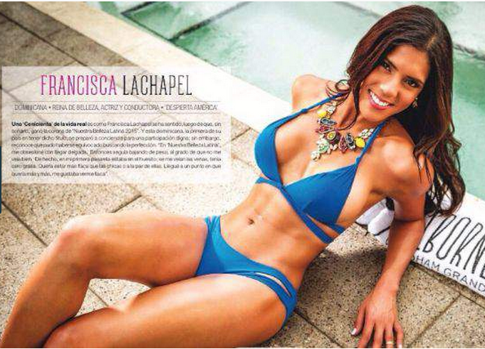 Francisca Lachapel, entre los mejores cuerpos  de estrellas de verano