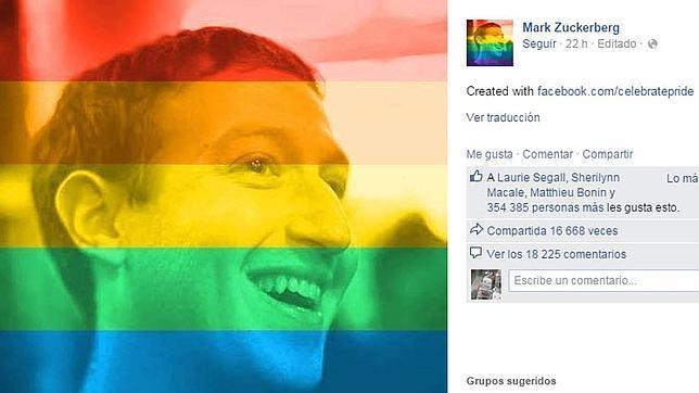El arcoíris en fotos de perfil, el último experimento social de Facebook