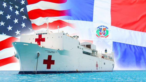 Buque hospital de EE.UU. dará asistencia médica a miles de dominicanos