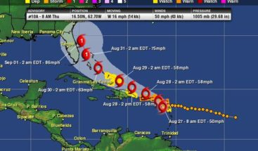Erika amenaza a República Dominicana y Puerto Rico; Mira trayectoria