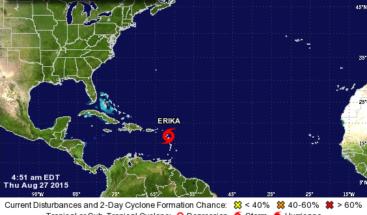 Se mantiene alerta desde Cabo Engaño hasta Cabo Francés por acercamiento de Erika