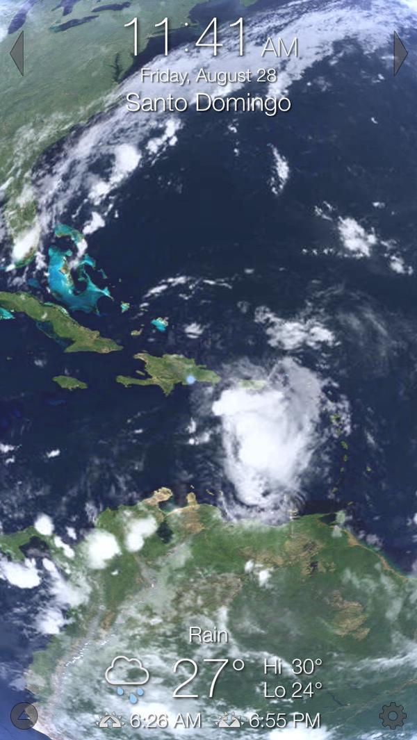 ¡Atención! Inminente paso de Erika por el país
